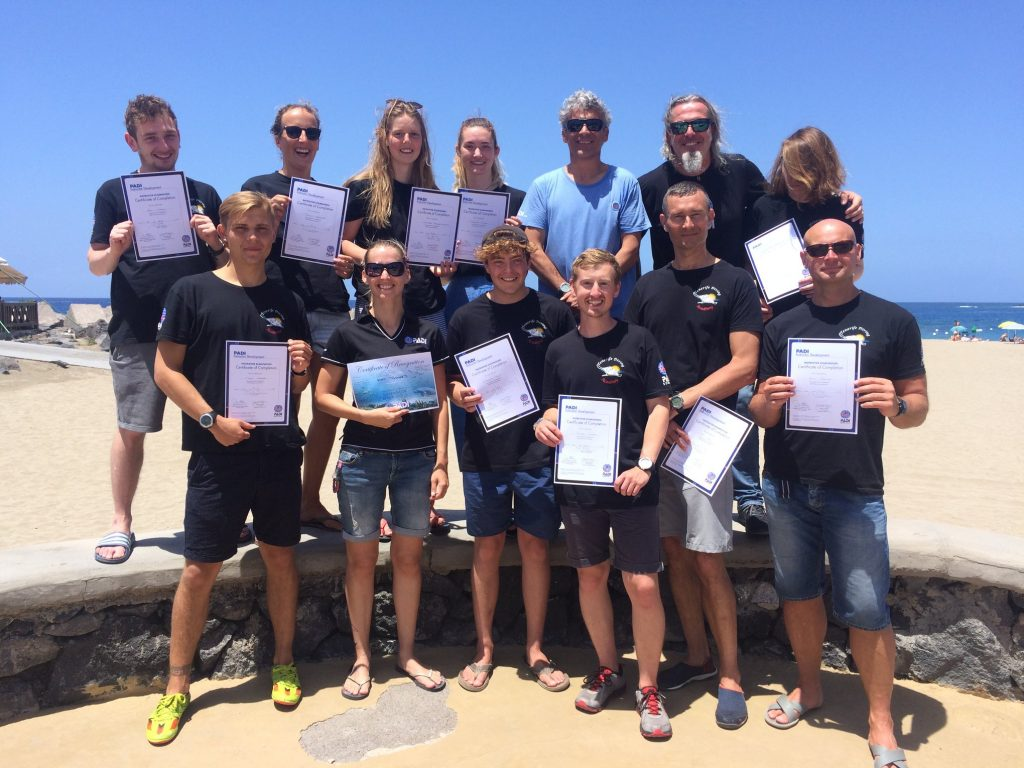 PADI Instructor Course Tenerife 2019